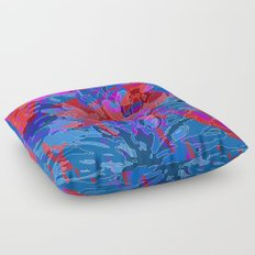 exploding coral Floor Pillow