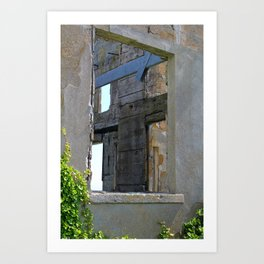 Alcatraz Building Reclaimed by Nature 2 Art Print