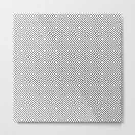 Beautiful Pattern #27 Silver Geometry Pattern Metal Print