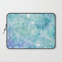 Blue Watercolor Background Laptop Sleeve