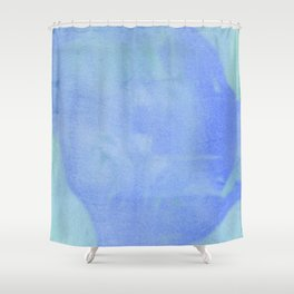 Ocean Wave Water Color Abstract Shower Curtain