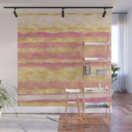 Gold Pink Glitz Stripes Wall Mural