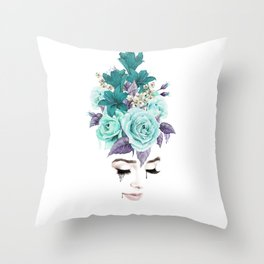 Dreaming of Roses Throw Pillow