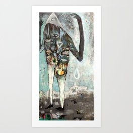 A Magic Castle Surrounded By Hypos and Ginger Bears Art Print