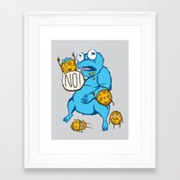 cookies Framed Art Prints featuring Cookies by MOONGUTS (Kyle Coughlin)