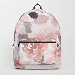 Festive, Flower Prints, Pink, Watercolor, Floral Prints Backpack