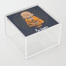 Be Happy Little Buddha Acrylic Box