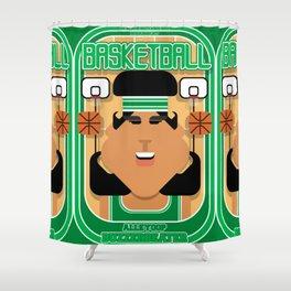 Basketball Green - Alleyoop Buzzerbeater - Indie version Shower Curtain