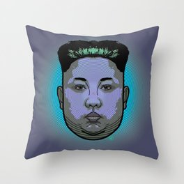 Kim Jong Un Dictator Do (series green1) Throw Pillow