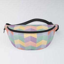 Colorful geometric blocks Fanny Pack