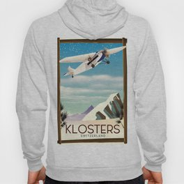 Klosters Switzerland vintage travel poster Hoody