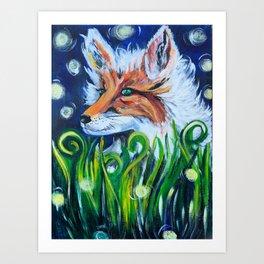 """""""Fancy Fox"""" Fox Art Art Print"""