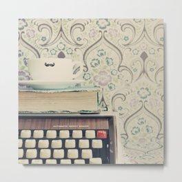 Type and Coffee Metal Print