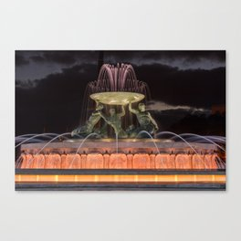 Triton Fountain Valletta 1 Canvas Print