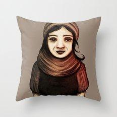 Desert Girl II Throw Pillow