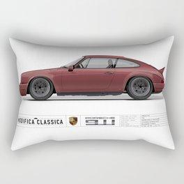 Porsche 1980 911SC Burgundy Metallic Rectangular Pillow
