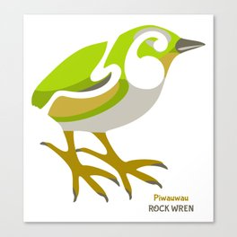 Rock Wren New Zealand Bird Canvas Print