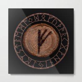 Fehu Elder Futhark rune Possessions, earned income, luck. Abundance, financial strength, hope Metal Print