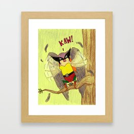 """""""Members"""" of the Justice League: Hawkgirl Framed Art Print"""