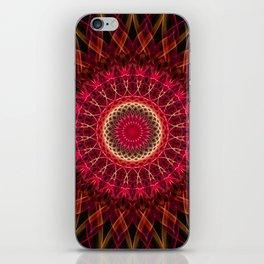 Dark red mandala iPhone Skin
