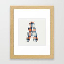 Plaid Initial Framed Art Print