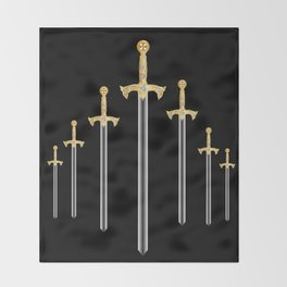 Templar Swords Throw Blanket