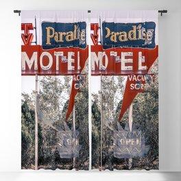 Abandoned Paradise Motel Vintage Neon Sign Route 66 Tucumcari New Mexico  Blackout Curtain