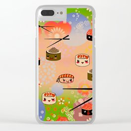 kawai sushi for sumo wrestles Clear iPhone Case
