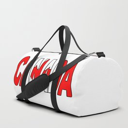 Canada Font with Canadian Flag Duffle Bag