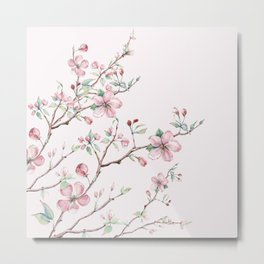Apple Blossom Pink #society6 #buyart Metal Print