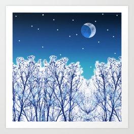 White Woods Snow Art Print