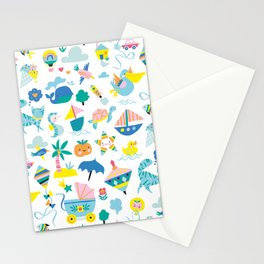 Baby pattern Stationery Cards