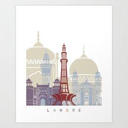 Lahore skyline poster Art Print