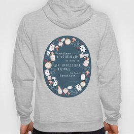 Alice in Wonderland - Six Impossible Things Hoody