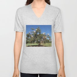 Goats in a tree Unisex V-Neck