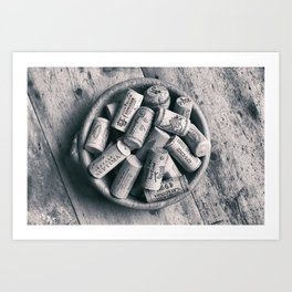 Collection of Corks. Art Print