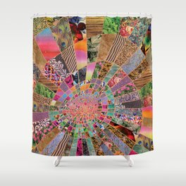 Shitty pink colored Clown Spiderweb Shower Curtain