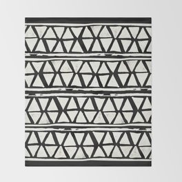 Tribal Geometric Band Throw Blanket