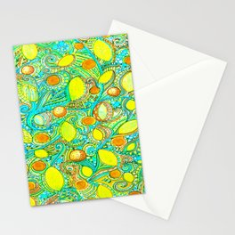 Abstract Citrus pattern drawing Stationery Cards