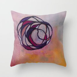 Pink Spiral Throw Pillow