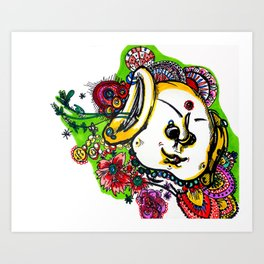 Booo-dah Art Print