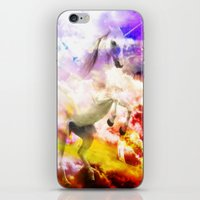 unicorn iPhone & iPod Skins featuring Unicorn  by haroulita
