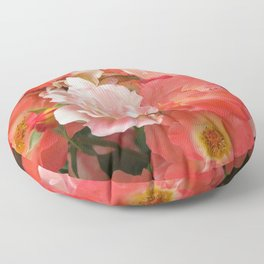 Roses that Knock You Out Floor Pillow