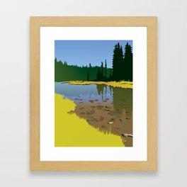 Junction Lake Framed Art Print