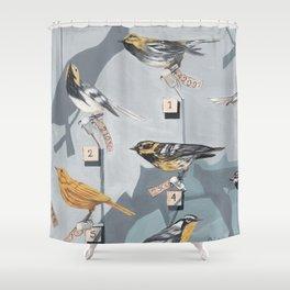 Warbler Exhibit Museum Birds Shower Curtain