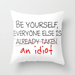 Uniqueness Throw Pillow