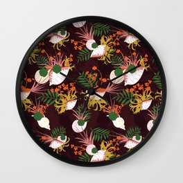 Terrarium purple Wall Clock
