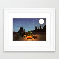 camping Framed Art Prints featuring Camping by plopezjr
