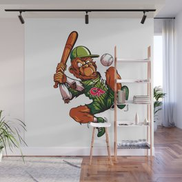 Baseball Monkey - Limerick Wall Mural