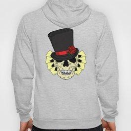 Magician Skull in Top Hat Hoody